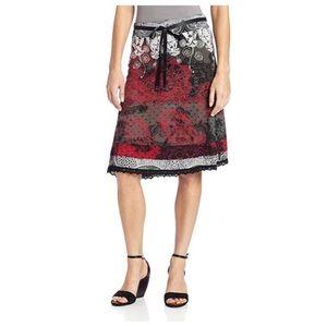 Desigual lace print paisley romin skirt